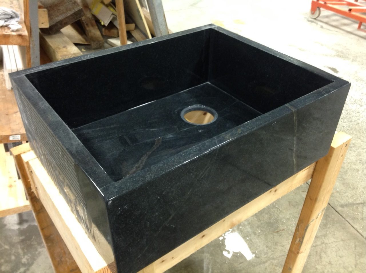 Black Marble Custom Sink